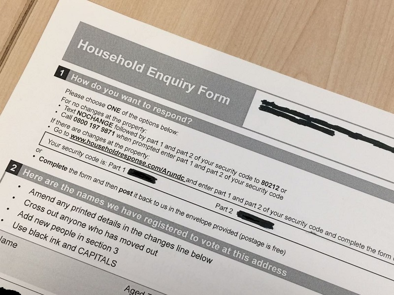 household information form
