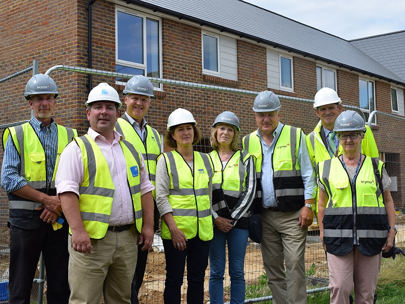 Arun District Council Officers have visited the site of new Council houses in Wick