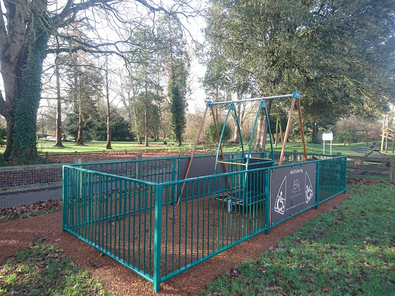 Wheelchair swing in Hotham Park