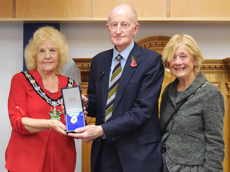 Jeanette Warr, Honorary Alederman Norman Dingermans and Patricia Dingermans