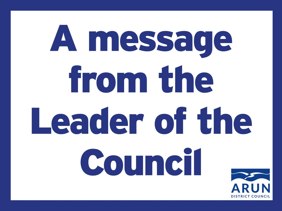 A message from the Leader of the Council