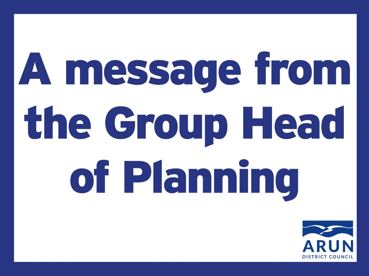 A message from the Group Head of Planning