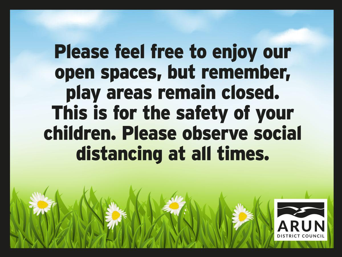 Play areas remain closed