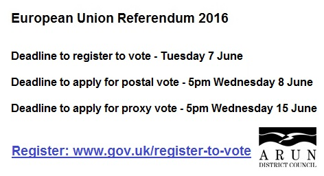 Euro Ref 2016 - register to vote popup