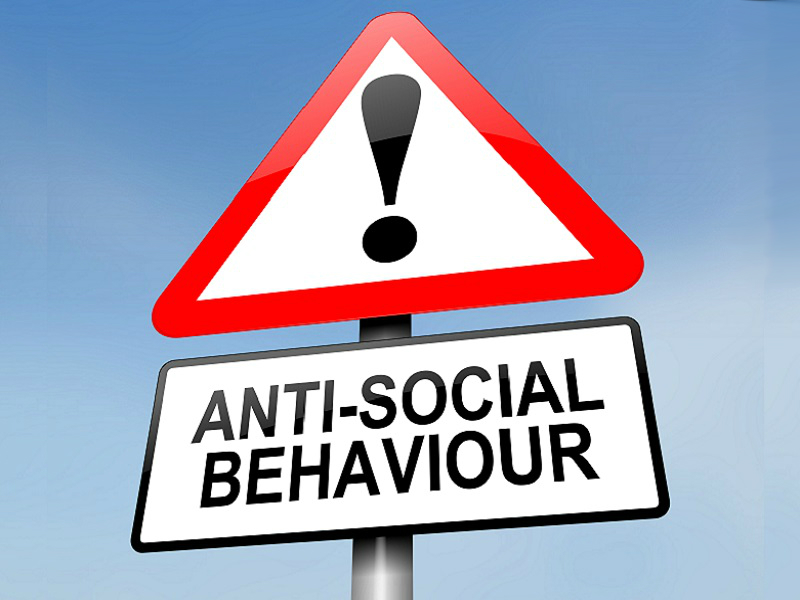 picture of anti social behaviour sign
